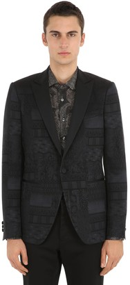 Etro Single Breasted Jacquard Tuxedo Jacket