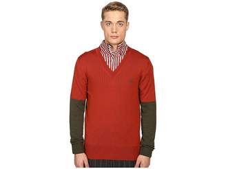 Vivienne Westwood Block Classic V-Neck Sweater Men's Sweater