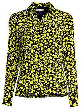 Alice + Olivia Women's Willa Silk Floral Shirt