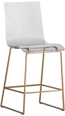 King Acrylic Counter Stool - Gold - Gabby