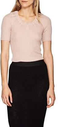 Alexander Wang Women's Wool-Blend Rib-Knit Short-Sleeve Sweater
