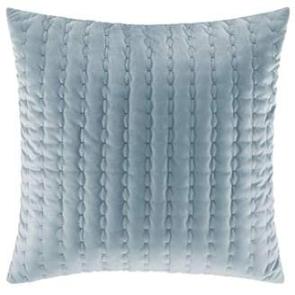 Stone Cottage Solid Blue Square Pillow