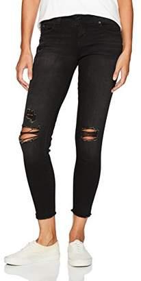 YMI Jeanswear Women's Wannabettabutt Fray Hem Anklet