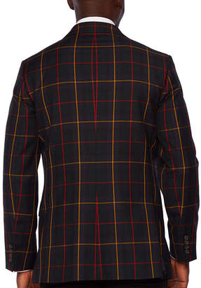 STAFFORD Stafford Tartan Multi Check Classic Fit Sport Coat