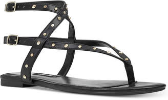 Nine West Simcha Studded Flat Sandals Women's Shoes