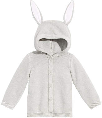 d7f09e45e673 First Impressions Baby Boys or Girls Bunny-Ear Hooded Cotton Sweater