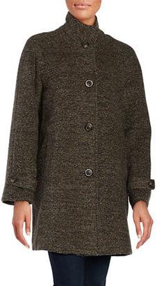 Jones New York Balmacaan Oversized Wool-Blend Coat $340 thestylecure.com