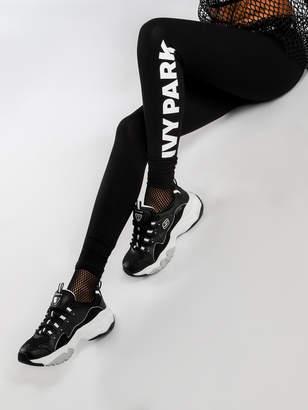 Ivy Park Logo Ankle Leggings in Black