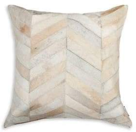 NATURAL RUGS Torino Chevron Patterned Cow Hair 18x18 Pillow
