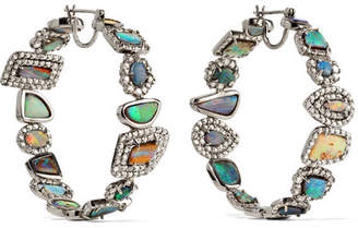 Kimberly McDonald - 18-karat White Gold, Opal And Diamond Earrings