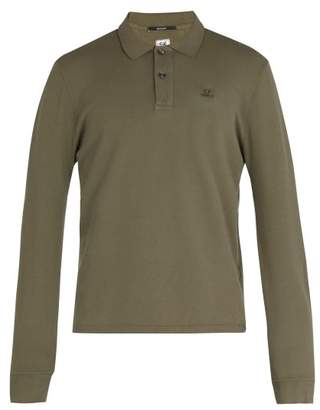 C.P. Company Long Sleeved Cotton Polo Shirt - Mens - Green