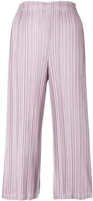 Pleats Please Issey Miyake pleated cropped culottes