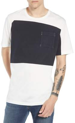 French Connection Asymmetrical Colorblock Pocket T-Shirt