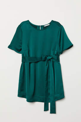 H&M MAMA Tie-belt Top - Green