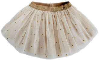 Mayoral Gold-Star Glitter Skirt