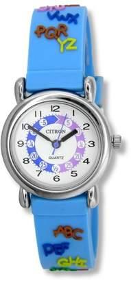 Citron KID015 Kids Blue Alphabet Time Teacher Watch