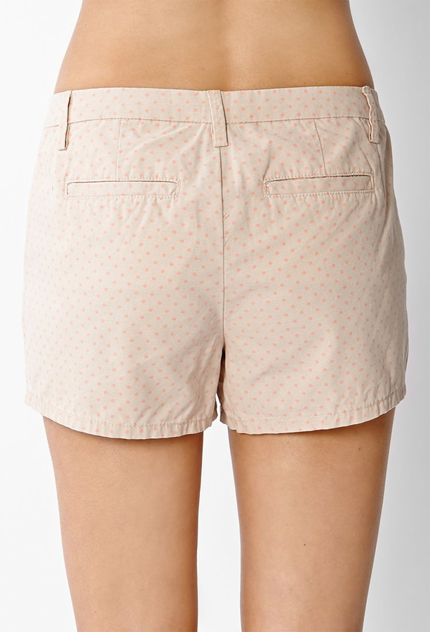 Forever 21 contemporary sugartown polka dot shorts
