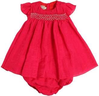 La Stupenderia Woven Silk Blend Dress & Diaper Cover