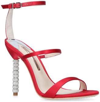 Sophia Webster Crystal-Embellished Satin Rosalind Sandals