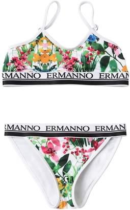 Ermanno Scervino Floral Print Lycra Bikini