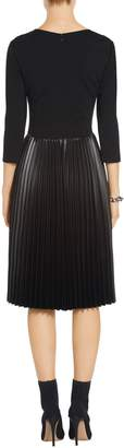 St. John Pleated Milano Knit Dress