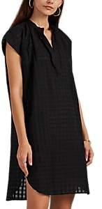 Two Women's Shadow-Gingham Cotton Tunic - Black