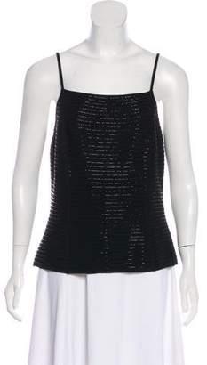Rena Lange Wool Sleeveless Beaded Top
