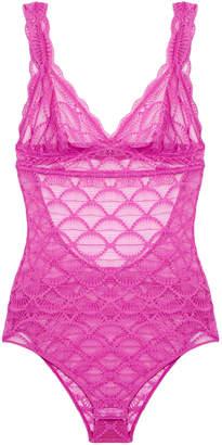 Eberjey Weekend Lovers Fuchsia Lace Bodysuit