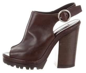 Michael Kors Leather Slingback Platform Sandals