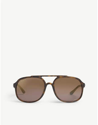 Ray-Ban Ladies Matte Havana Brown Classic Rb4313Ch Square-Frame Sunglasses