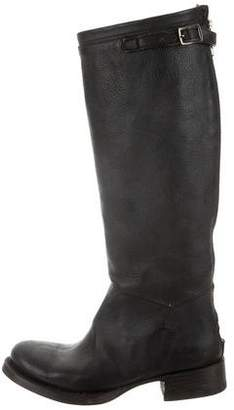 Ash Leather Knee-High Boots