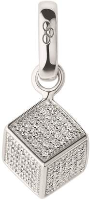 Links of London Sterling Silver and Diamond Sugar Cube Bracelet Charm