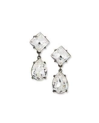 Kenneth Jay Lane Crystal Square & Teardrop Earrings