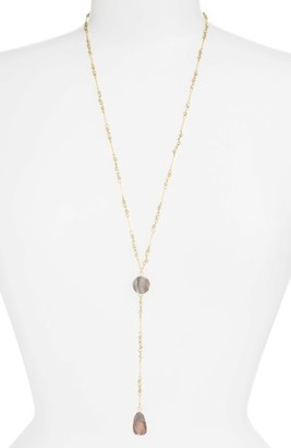 Women's Panacea Drusy Stone Y-Necklace $48 thestylecure.com