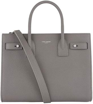 Saint Laurent Baby Grained Leather Sac De Jour Tote