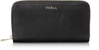 Furla Onyx Babylon XL Zip Around Pebbled Leather Wallet