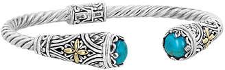 Rob-ert Robert Manse Designs Bali Silver & 18K Turquoise Bracelet