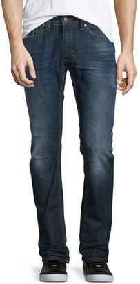 Diesel Thavar L32 Faded Slim-Fit Jeans, Blue $140 thestylecure.com