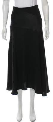 J.W.Anderson Satin-Accented Midi Skirt