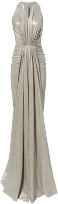 Rick Owens Lilies Ruched Metallic Gown