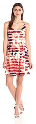 Jessica Simpson Women's ed Scuba Dress with Pleats