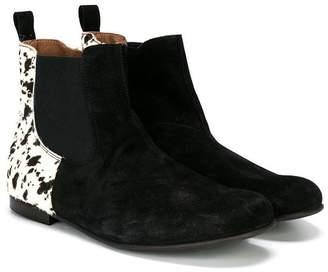 Pépé Kids animal print zipped boots