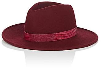 Lafayette House of Women's Johnny 4 Wool Felt Fedora - Wine
