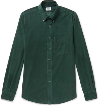 Aspesi Slim-Fit Button-Down Collar Cotton-Corduroy Shirt