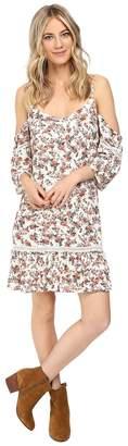Brigitte Bailey Camela Cold Shoulder Dress with Back Detail Women's Dress