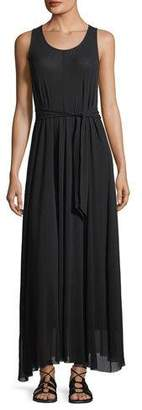 Fuzzi Tulle Full Belted Maxi Tank Dress