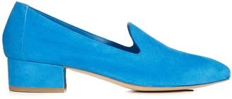 MANSUR GAVRIEL Venetian suede loafers $377 thestylecure.com