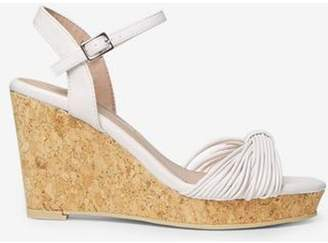Dorothy Perkins Womens White 'Rita' Wedge Sandals