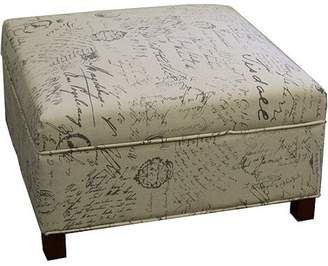 Ore International 19.5-in Old World Squared Storage Ottoman