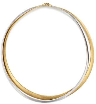 "Marco Bicego 18K White & Yellow Gold Masai Two Strand Necklace, 15"""